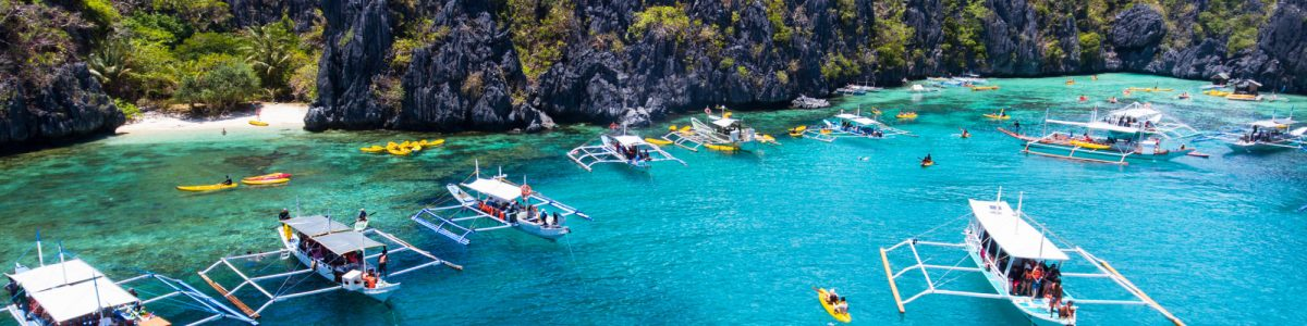Awesome small lagoon in El Nido Palawan Philippines